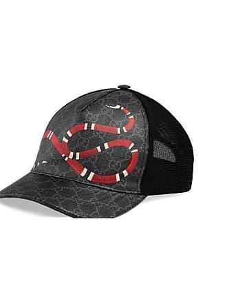 Gucci Cappellino da baseball in tessuto GG Supreme con stampa Kingsnake 9ec6b2914f43