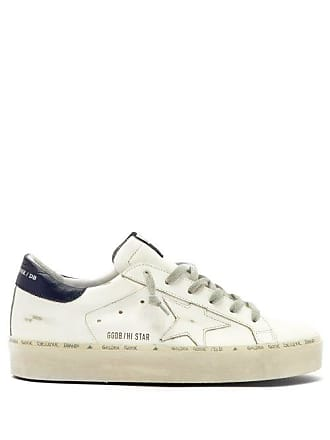 9d048a5677d Golden Goose Hi Star Low Top Leather Trainers - Womens - White Navy