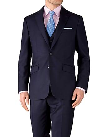 caf0f389574d1 CHARLES TYRWHITT Slim Fit Reiseanzug Sakko in Tinten Blau mit  Pfauenaugenmuster