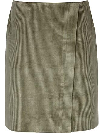 8864465da1 Reiss Francis - Corduroy Warp Front Mini Skirt in Green, Womens, Size 10
