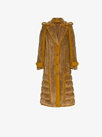 Acne Studios faux fur front panel coat