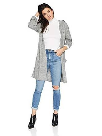 Karen Kane Womens Hooded Cardigan Sweater, Light Heather Grey, Extra Small