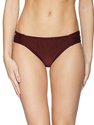 7498b7cd9d8a La Blanca Womens Side Shirred Hipster Bikini Swimsuit Bottom,  Crimson/Midnight Rain Print,