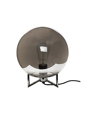 Hübsch Bordslampa klot svart krom hubsch