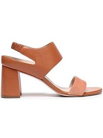 7d0944f06441a Stuart Weitzman Stuart Weitzman Woman Leather And Suede Slingback Sandals  Tan Size 36.5