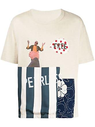 Visvim Camiseta com mix de tecidos - Neutro