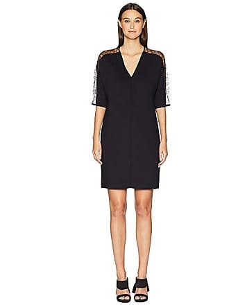 c988d96fc620c Escada Dalacenas Lace Inset Short Sleeve Dress (Black) Womens Dress