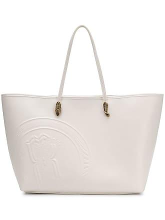 d1ac08499f5d1 Roberto Cavalli logo embossed shopping tote - Branco