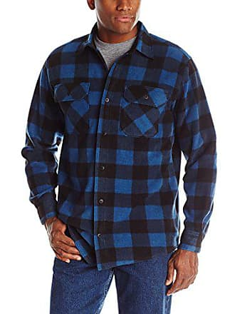 c933ac4b1a1 Wrangler Authentics Mens Long Sleeve Plaid Fleece Shirt