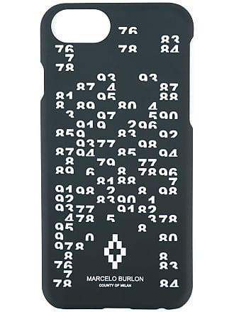 Marcelo Burlon Capa para iPhone 7 com estampa de números - Preto