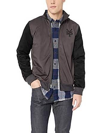 Zoo York Mens Jacquard Taped Zipper Jacket, Work wear, Small