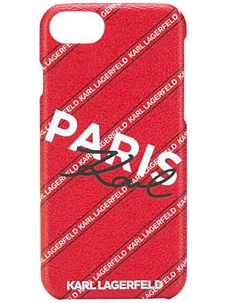 Karl Lagerfeld Capa para iPhone 8 matelassê - Vermelho