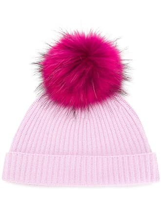 fae45173148 N.Peal Ribbed Beanie with Detachable Pom Pom - Pink