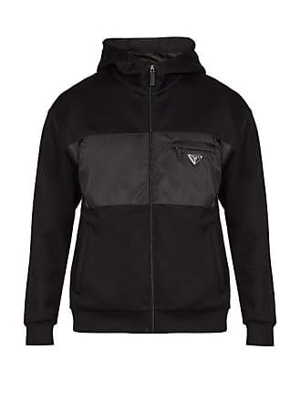 a77e9636d3 Prada Logo Appliqué Hooded Track Top - Mens - Black