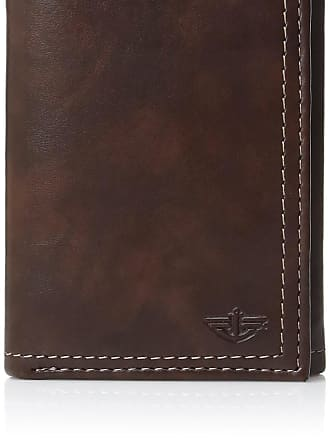 Dockers mens31DK110022Dockers Mens Trifold Wallet with Interior Zipper Wallet - Brown - One Size