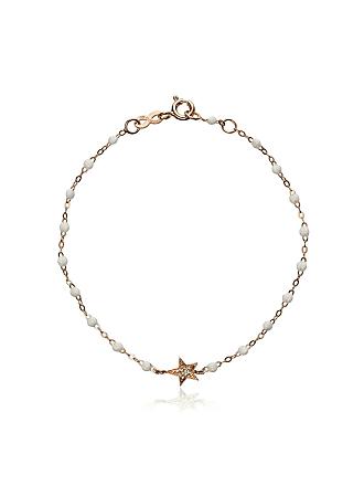 Gigi Clozeau Pulseira de ouro rosê com diamante - Branco