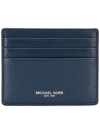 Michael Kors Porta-cartões de couro - Azul