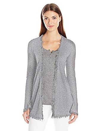 c0d07d5a8a554 Minnie Rose Womens Frayed Cotton Cardigan with Flare Sleeves