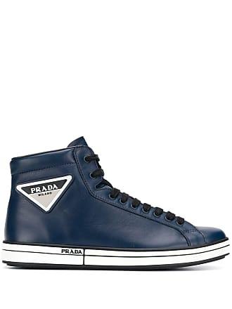 7eb81da475d Prada Etiquette hi-top sneakers - Blue