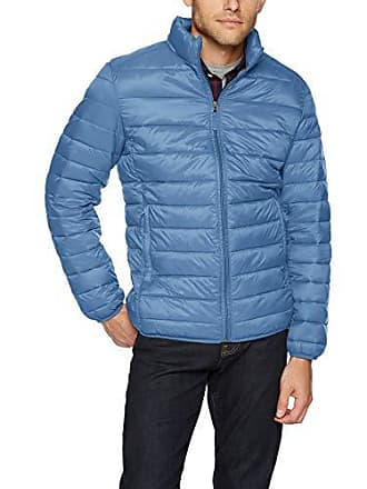 Amazon Essentials Mens Lightweight Water-Resistant Packable Puffer Jacket, Blue, X-Large