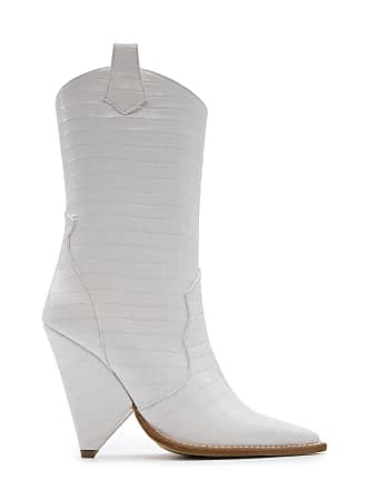 b2da25b730 Aldo Castagna WOMENS DESI133100COCCOBIANCO WHITE LEATHER ANKLE BOOTS