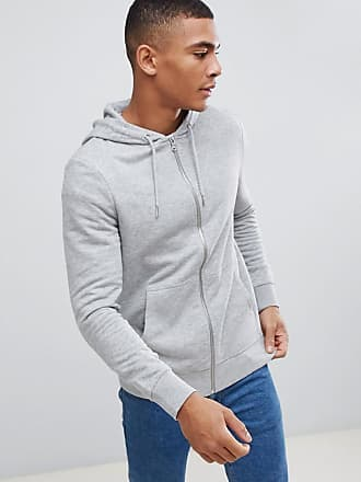 New Look zip through hoodie in gray marl - Gray