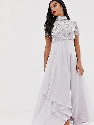 676283008a8ca5 Asos Petite ASOS DESIGN Petite embellished bodice maxi dress with short  sleeve