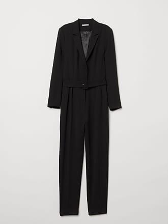 H&M Long-sleeved Jumpsuit - Black
