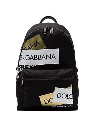 Dolce & Gabbana Mochila com patch de logo - Preto