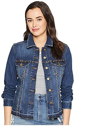119a58ef937c0 Liverpool Studded Jean Jacket (Montauk Vintage Print) Womens Coat
