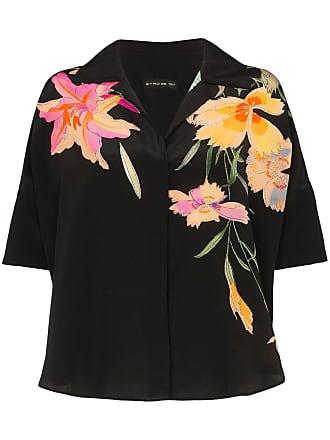 Etro floral print silk shirt - Black