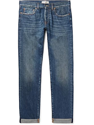 Salle Privée Lewitt Distressed Selvedge Denim Jeans - Blue