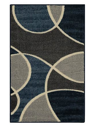 Better Homes & Gardens Geo Waves I Area Rug Gray and Blue - HY17-D1-010-054