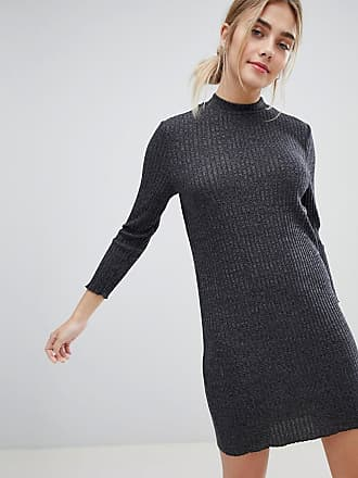d480053d7ce Jacqueline de Yong Mei High Neck Sweater Dress - Gray