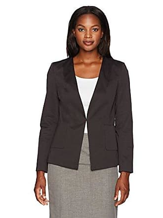 Ellen Tracy Womens Angle Pocket Blazer, el/Black, 12