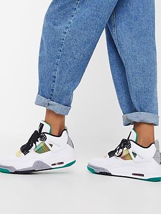 Nike Jordan Nike Air Jordan 4 trainers in white and green