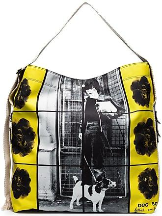 J.W.Anderson Bolsa tiracolo de canvas estampada - Amarelo