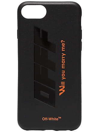 Off-white Black and Orange Quote Print iPhone 8 PVC Phone Case