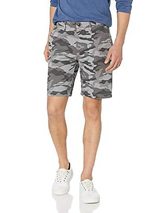 Goodthreads Mens 9 Inseam Flat-Front Stretch Chino Short, Grey Camo, 31