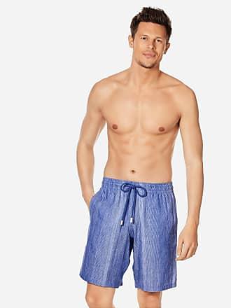 Vilebrequin Men Ready to Wear - Men Linen Cotton Shorts Bermuda Multi Rayures - BERMUDA - BOLIDE - Blue - XXXL - Vilebrequin