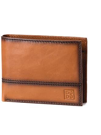 ea3b653adc DuDu Portafoglio uomo pelle di alta qualità con portamonete 4 tasche carte  di credito DUDU Marrone