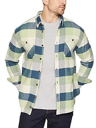 Quiksilver Waterman Mens Colder Winds Flannel Shirt, Rainy Day, XL