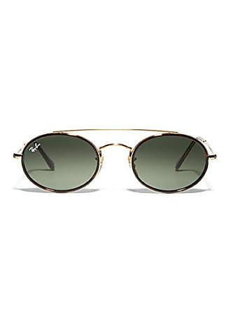 Ray-Ban Gold double-bridge oval sunglasses