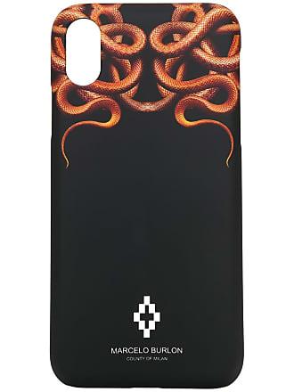 Marcelo Burlon Capa Snakes para iPhone X - Preto