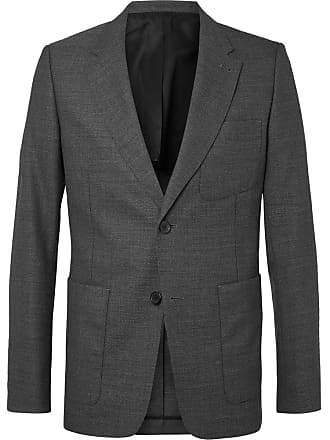 Ami Grey Slim-fit Unstructured Wool Suit Jacket - Gray
