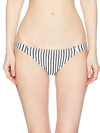 28f62f0641 O'Neill Womens Highway Stripe Twist Tab Side Bikini Bottom Swimsuit, White /Black