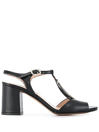 Albano oval disc sandals - Black