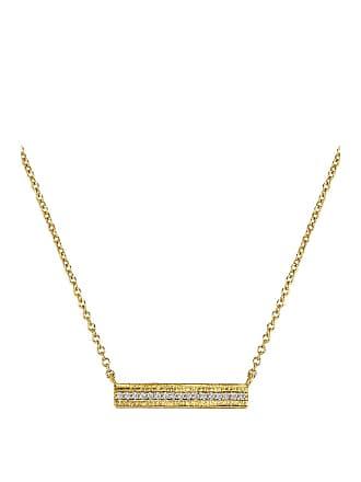 Gorjana Nia Shimmer Bar Necklace in Metallic Gold