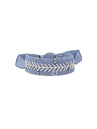 Fallon embellished bandana choker - Blue
