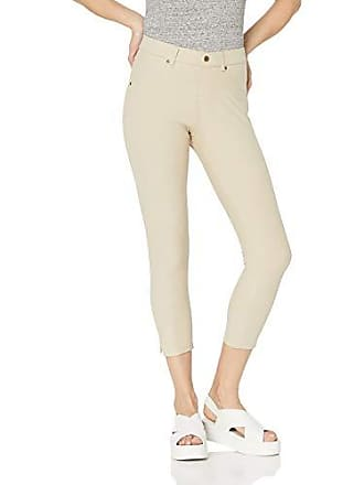 a139d3027dfcd Hue Womens Plus Size Essential Denim Jean Capri Leggings, Assorted, Ankle  Slit/Sandbar